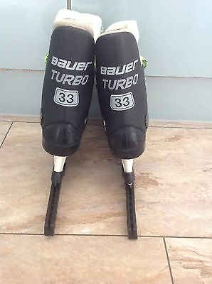 Bauer Turbo Original 33 Ice Skates Or For Quad Rollerskate Conversion UK size 5