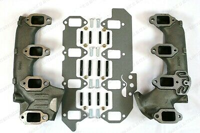 NEW 1958-68 Lincoln Exhaust Manifold Right/Left 430/462/410 w/36-Piece Mount Kit