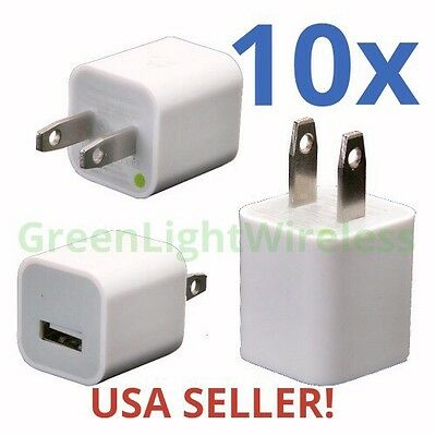 10x Brand New 1 Amp LOT Power Adapter Home Wall Charger 1A Plug iPhone Samsung