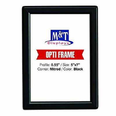 """5"""" X 7"""" Snap Frame, Opti Frame, 0.55"""" Profile, With Back Support - Black"""