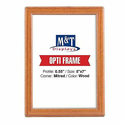 """5"""" X 7"""" Snap Frame, Opti Frame, 0.55""""  Profile, With Back Support - Wood Effect"""