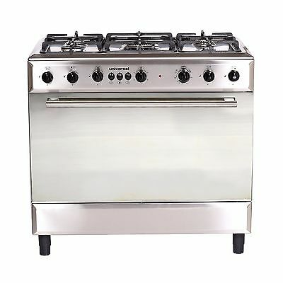 Universal 90cm Dual Fuel Cooker, Stainless Steel Model Diamond Series 9605D