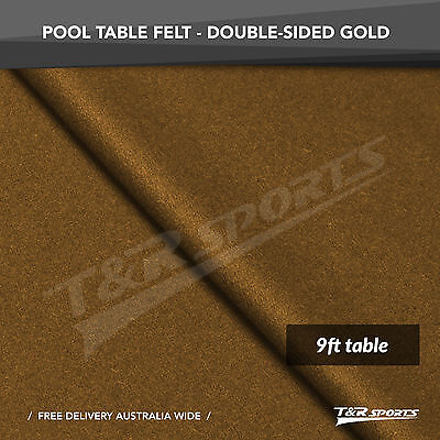 Gold Double-sided Wool Pool Snooker Table Top Cloth Felt for 9''
