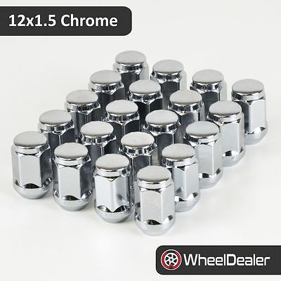 20 x Chrome Alloy Wheels Rim Nuts 12 x 1.5 to fit Mazda Toyota Honda Kia Hyundai