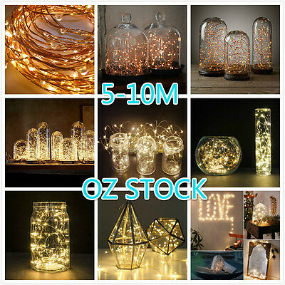 2-10M Copper Wire String Fairy Lights Xmas Party Battery Warm White Cool OZ AU
