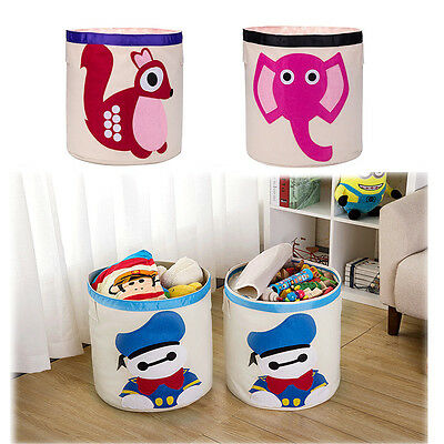 Carton Canvas Storage Box Bag Toys Bucket Folded House Car Organizer Basket