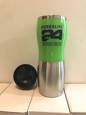 Herbalife 24 Stainless Steel Double Wall Thermos Tumbler COFFEE TRAVEL MUG 15oz