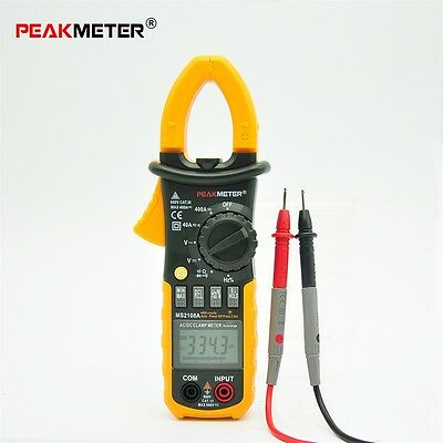 New MASTECH MS2108A Digital Clamp Meter Multimeter AC DC Current Volt Tester BP