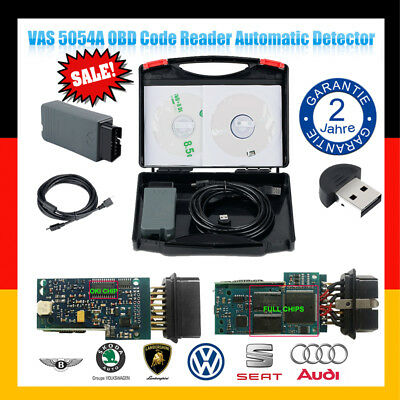 VAS 5054A + OKI Span Voll Chip ODIS V3.0.1 Diagnosegerät OBDII Scanner Bluetooth