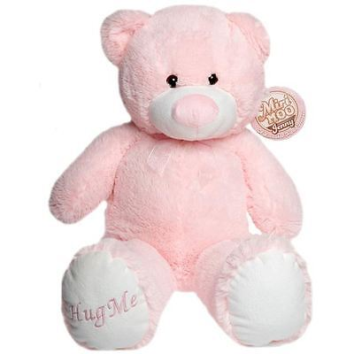 Large Sitting Teddy Bear Baby Pink Soft Toy Plush Childrens Kids Gift Brand New