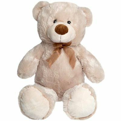 Large Sitting Teddy Bear Brown Soft Toy Plush Childrens Kids Gift Brand New