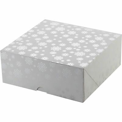 Christmas Snowflake Cake Box 10 Inches Bakeware Storage Display Carrier Holder