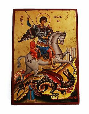 Greek Russian Orthodox Lithography Icon St. George 01 19x13cm