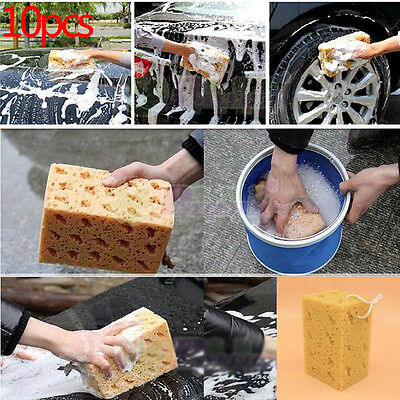 10Pcs New Useful Jumbo Honeycomb Sponge Coral Cleaning Car Macroporous Tool