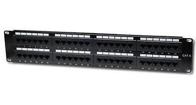 560283 Intellinet Cat6 Patch Panel with 48-Port (Black)