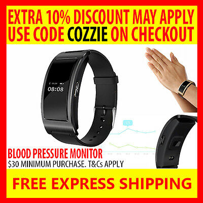 New Ck11 Blood Pressure + Heart Rate Monitor Activity Tracker Fitbit Smart Watch