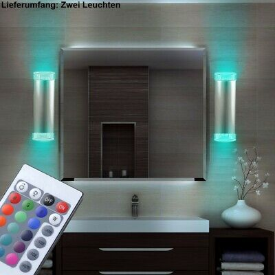 2er set rgb led boden au en leuchten einbau park dimmer lampen fernbedienung eur 67 90. Black Bedroom Furniture Sets. Home Design Ideas