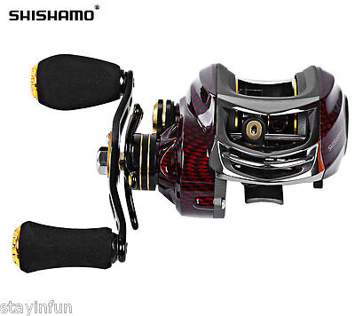 Shishamo BC150 Left Right Hand Fishing Bait Casting Reel with One Way Clutch New