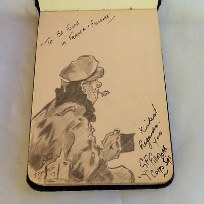 1917 Autograph book - 43rd Camerons highlanders Canada - 'Y' Corps Signals Co.
