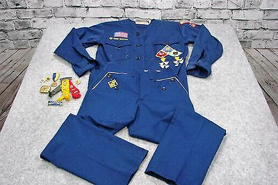 Cub Scout Boy Uniform Shirt Youth Blue Size Youth Official America Halloween