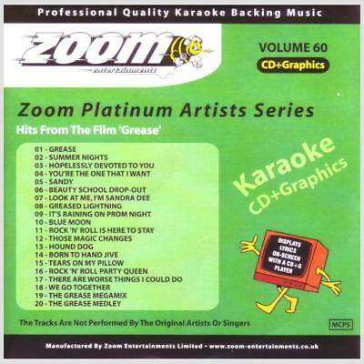 Karaoke Disc Zoom Platinum Artists 60 - Hits From Grease CDG/CD+G Backing Tracks