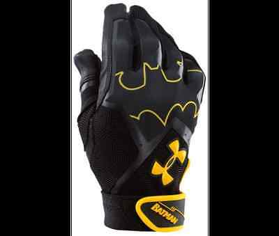 Under Armour Boy's Clean Up IV Alter Ego Batman Batting Gloves