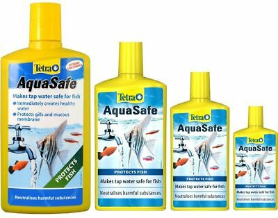 Tetra AquaSafe - Aquarium Tap Water De-Chlorinator Conditioner Fish Treatment