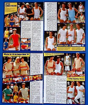 Men's Underwear Pajamas Vintage Catalog Clippings 12 pages  from 1984