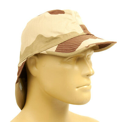 French F2 CCE Field Bigeard Cap Desert Camouflage with Neck Flap - Size 58cm
