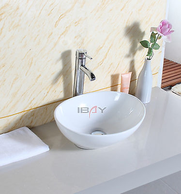 Oval Bathroom Ceramic Counter Top Wash Basin Sink Washing Bowl Modern Design