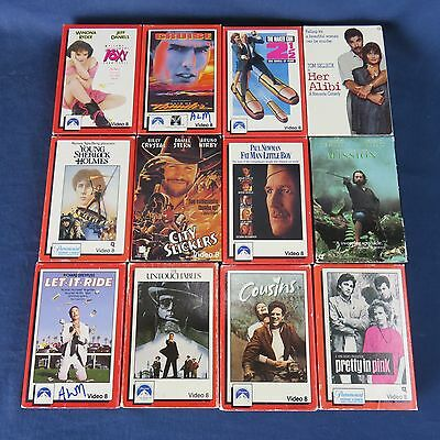 VTG Lot 22 Video 8 Casette Movies WB Castle Rock Paramount Columbia Pictures MGM