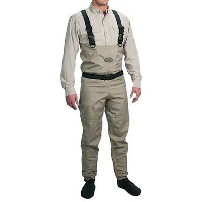 Allen Co Platte River Breathable Fly Fishing Chest Waders Stocking Foot - Large