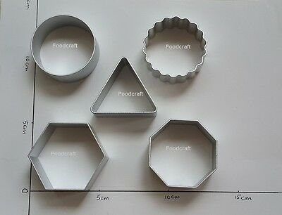 Round Triangle Hexagon Shapes Cookie Biscuit Cutter Mold Aluminium Baking New