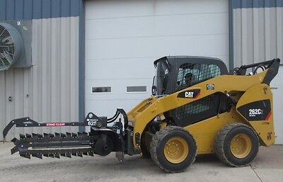 "Bradco 625 Skid Steer Loader Trencher Attachment 48"" x 6"" Dirt Chain 14- 22 GPM"