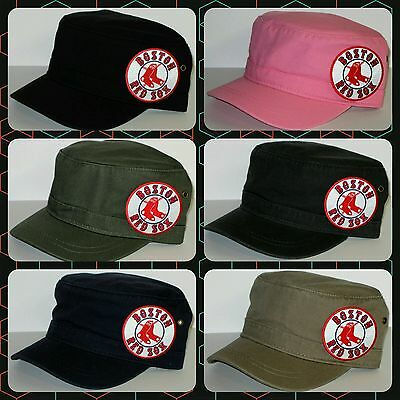 Boston Red Sox Cotton Twill Corps Hat ~CLASSIC MLB PATCH/LOGO ~6 Cool Color ~NEW