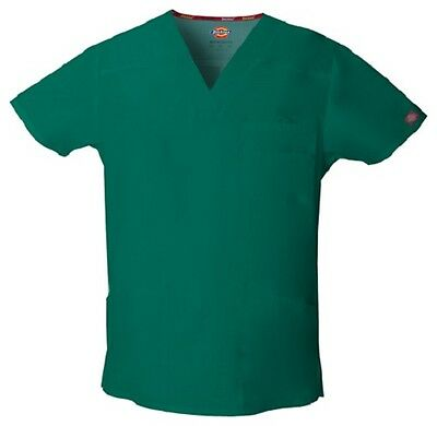 Dickies Scrubs EDS Men's Scrub Top 81906 HUNTER HUWZ Dickies Signature