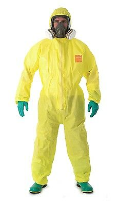 Microchem 3000 Disposable Coveralls - Yellow - Size 2Xl