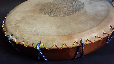 Atzec Shamanic Ayacahuite Wood Drum Mexican Latin Musical Percussion Instrument