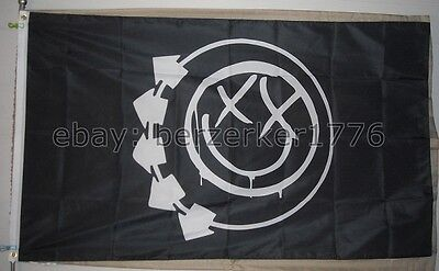 Blink 182 Feeling This 3'x5' black Smiley face flag banner - punk - USA shipper