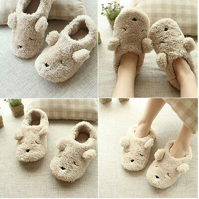Lady's Cute Puppy Non-Slip Warm Light Indoor Slippers Ankle Boots Shoes Footwear