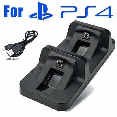 Dual charge Base Dock Charging Station Dock PS4 Playstation 4 Controller USB BT
