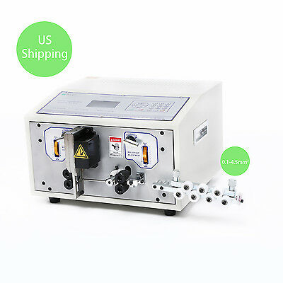 110V Automatic Computer Wire Peeling Stripping Cutting Machine 0.1-4.5 mm2