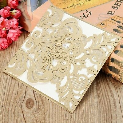 Wedding Invitation Cards Romantic Party Anniversiry Envelopes Delicate Carved Fl