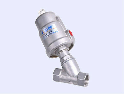 """1/2"""" Stainless Steel  BSP Angle Seat Valve Normally Closed, DN15 Free Shipping"""