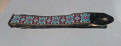 1960s 1970s Cloth Hippy Guitar strap Cool!