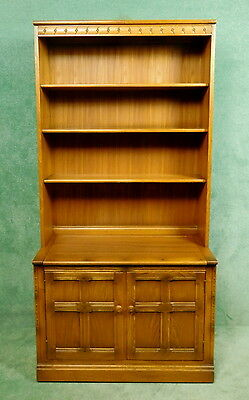 Ercol Mural Hi Fi Cabinet - Open Bookcase - Golden Dawn