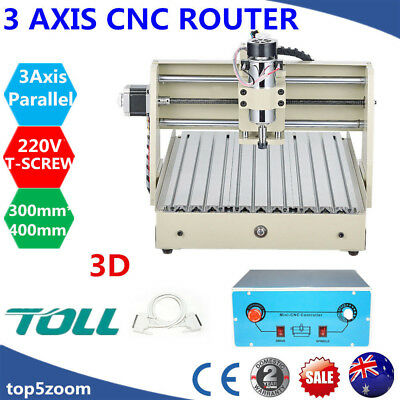 3Axis CNC3040 Engraver 400W Router Desktop Engraving/Milling Drill Machine Mach3
