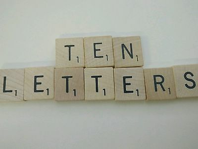 Scrabble Letters Your Choice Pick of 10 Custom Tiles Letters Wooden Crafts Arts