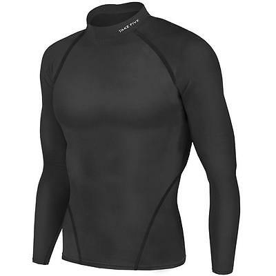 New Winter Black Mens Baselayer Long Sleeves Shirt Armour Compression Apparel