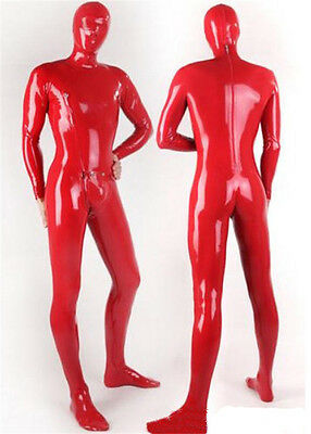 Full Cover Latex Zentai Catsuits Fetish Costumes With Detachable Crotch Piece